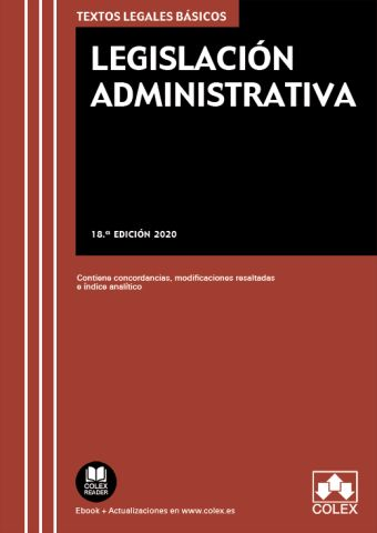 LEGISLACION ADMINISTRATIVA. 18 ED. 2020