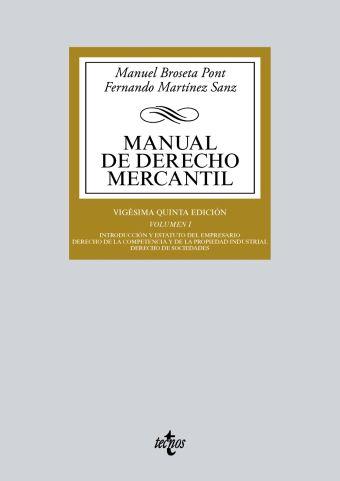 018 MANUAL DERECHO MERCANTIL TOMO 1