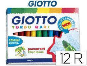12 ROTULADORES GIOTTO TURBO MAXI GIOTTO - FILA