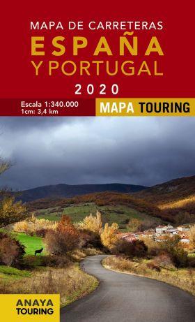 MAPA DE CARRETERAS DE ESPAÑA Y PORTUGAL 1:340.000,