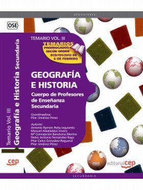 GEOGRAFIA E HISTORIA. CUERPO DE PROFESORES DE ENSE