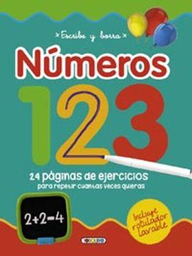ESCRIBE Y BORRA NUMEROS 123