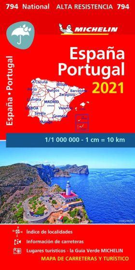 MAPA ESPAÑA PORTUGAL ALTA RESISTENCIA 2021
